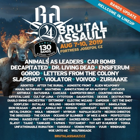 Brutal Assault   Bands Update 9th Jan
